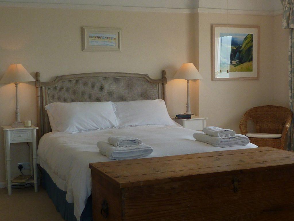 Luxury bedroom Rinsey Head in Cornwall