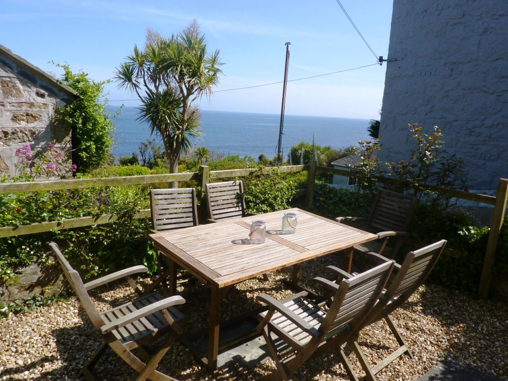 Outside dining Mousehole Cottage from Stylish Cornish Cottages