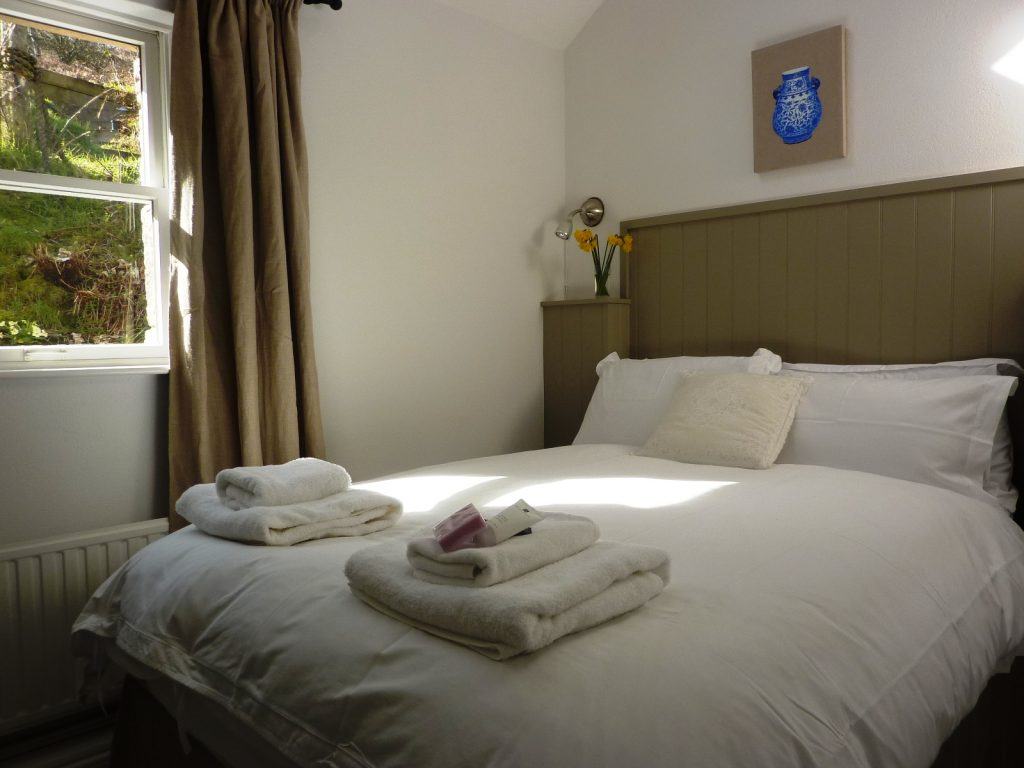 Porth Nanven Cottage bedrooms in Cornwall