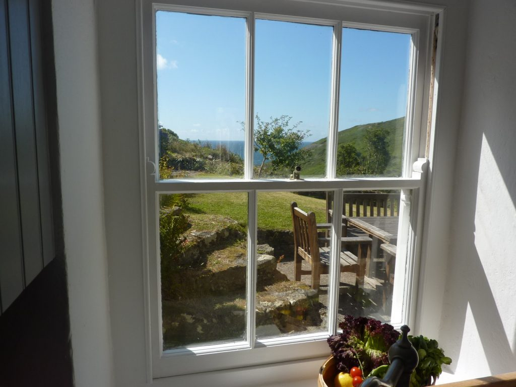 View towards the garden - Porth Nanven House Cottage in Cornwall