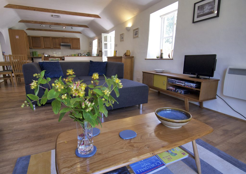 Living space at The Little Barn Cottage