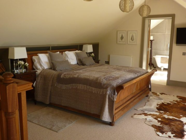 Master bedroom The Summer House Mousehole self catering
