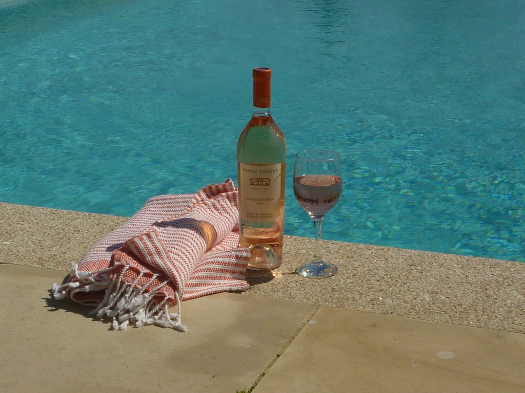 Wine by the pool from Stylish Cornish Cottages
