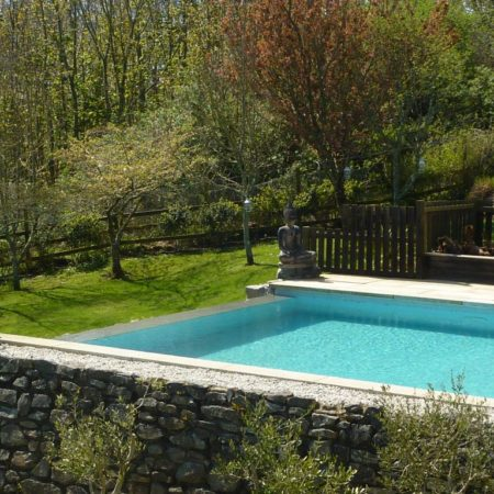 Outdoor swimming pool from Stylish Cornish Cottages