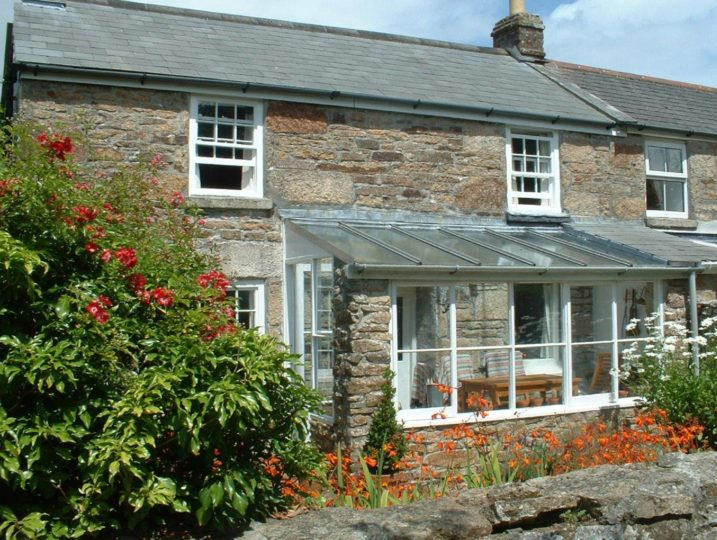 Tivoli Cottage frontage from Stylish Cornish Cottages