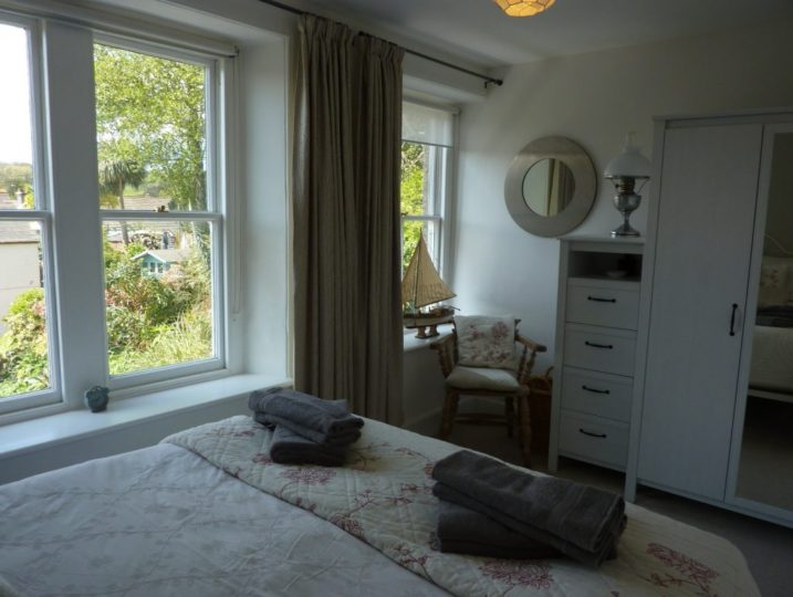 Trevarrack Bedroom views - self catering in Cornwall