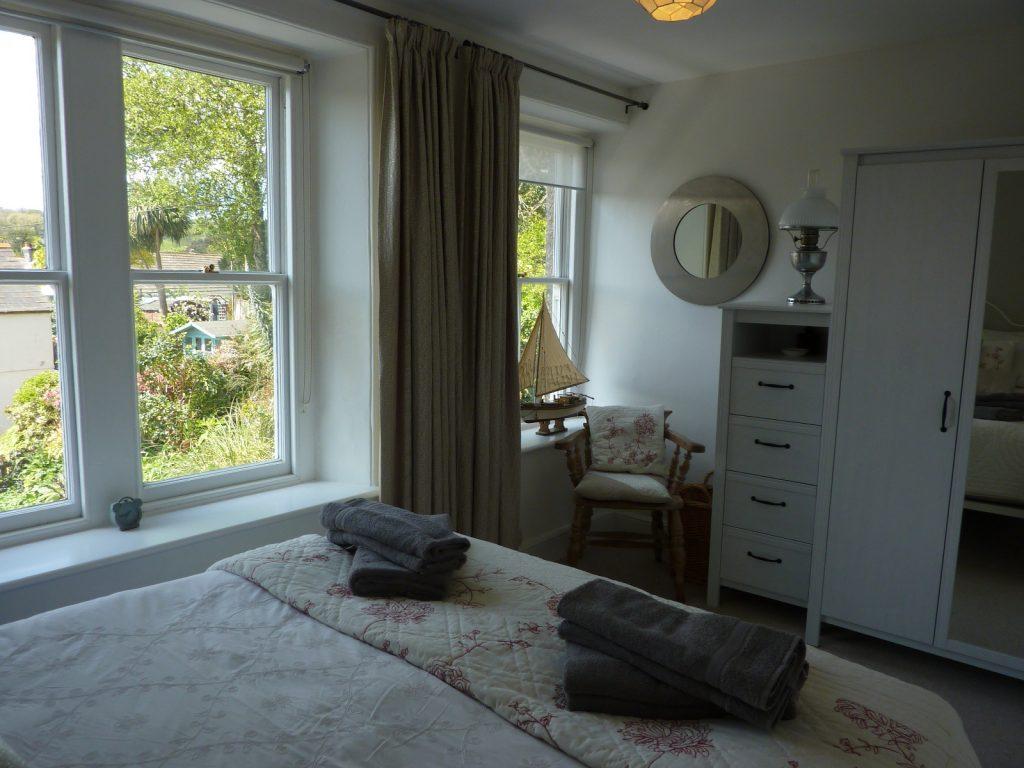 Trevarrack Bedroom views - self catering in Cornwall