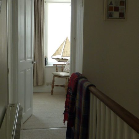 View from the landing - Trevarrack Row Cornwall
