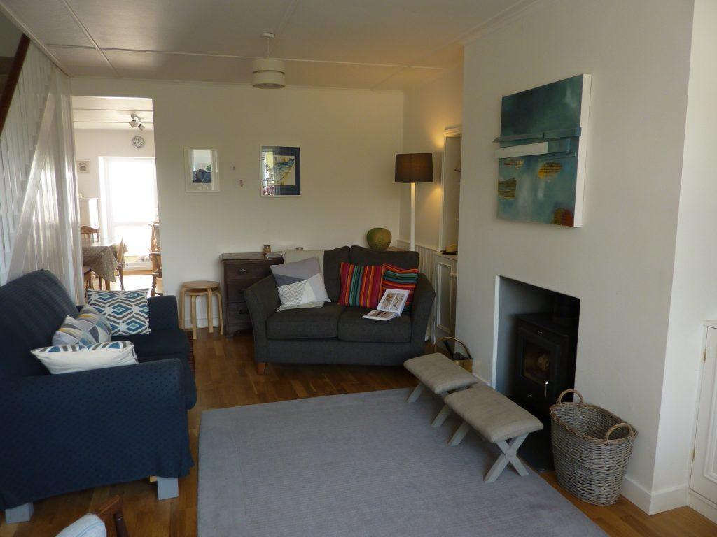 Cosy living room - Trevarrack Row Gulval Cornwall