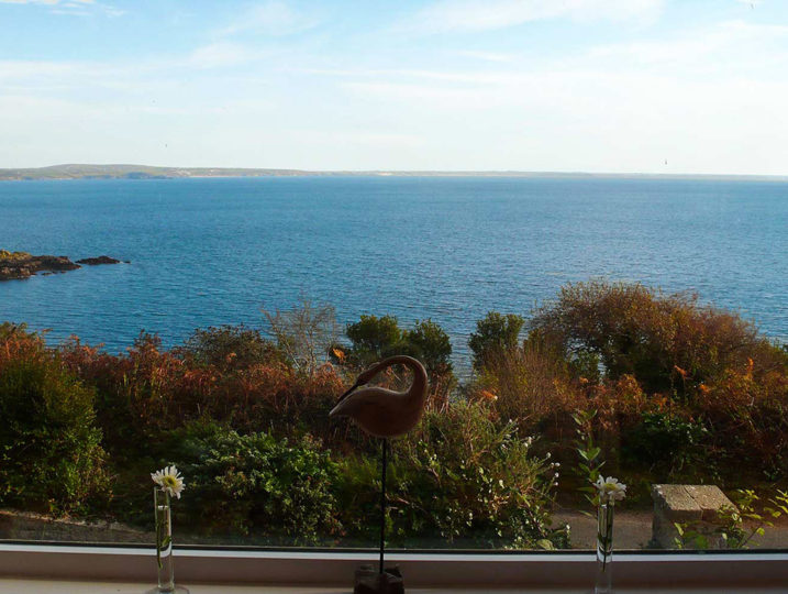 Sea view from Mousehole Cottage in Cornwall